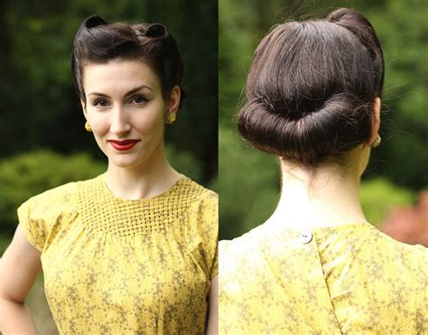 Roll Hairstyle by Fleur De Geurre 1940s Victory Roll Hairstyle Jpg 637 215 499