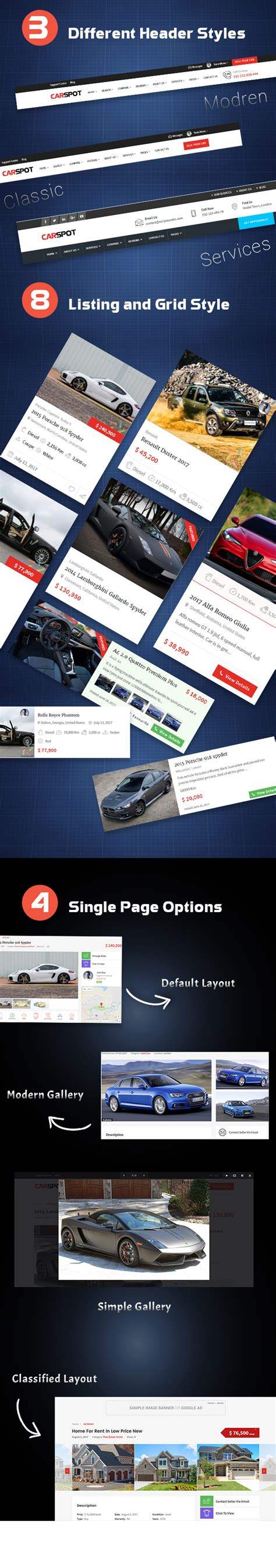a business use car is classified as what section property carspot automotive car dealer wordpress classified theme