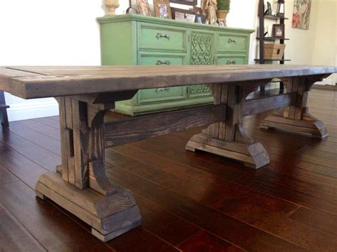 farmers bench farm house bench ana white triple pedestal farmhouse bench