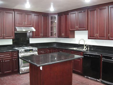 Cherry Wood Kitchen Cabinets With Black Granite Kitchens With Cabinets Black Kitchen Pictures Cherry Wood Cabinets