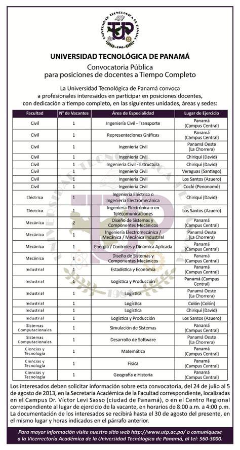 convocatoria hasta el 20 de enero de 2013 para convocatoria p 250 blica para posiciones de docentes a tiempo