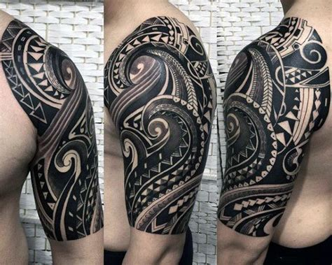 tribal tattoo sleeves for men 25 best ideas about half sleeve tribal tattoos on