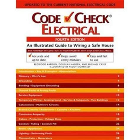 code check an illustrated guide to building a safe house books code check electrical an illustrated guide to wiring a