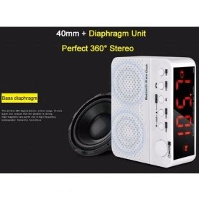 Speaker Dengan Bluetooth taffware jam alarm dengan speaker bluetooth kd 66