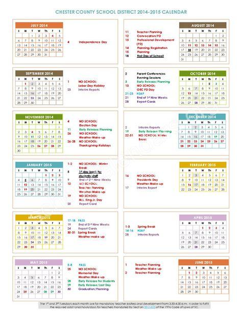 Ccsd Calendar Guilford County 2015 2016 Calender Calendar Template 2016
