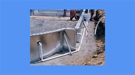 Inground Swimming Pool Plumbing by In Ground Steel Wall Pool Installation Process Explained