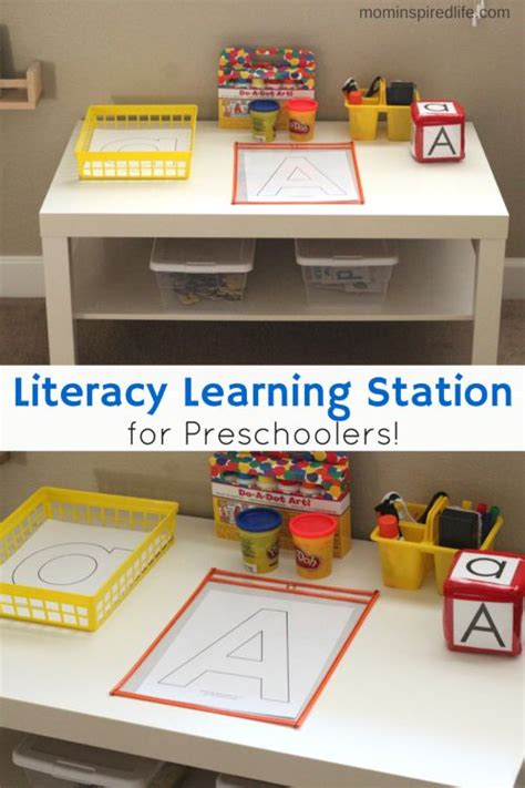 printable magazine letters for literacy station literacy learning station for preschoolers preschool
