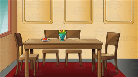 dinning room cartoon clipart traditional household dining room