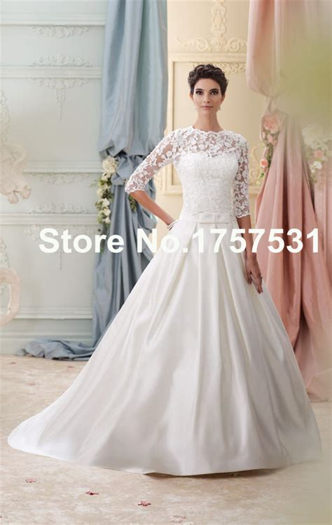 white wedding gowns with sleeves dress gown wedding dress satin wedding dress