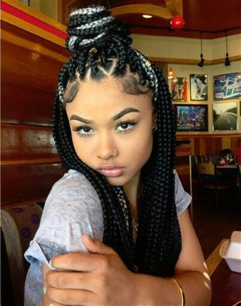 triangle parts natural hair love the box braids especially the triangle shaped parts