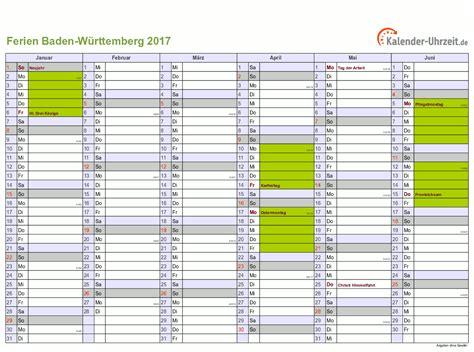 Kalender 2018 Zum Ausdrucken Mit Ferien Bw Ferien Baden W 252 Rttemberg 2017 Ferienkalender Zum Ausdrucken