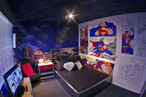 superman bedroom decor coolest bedroom with superman themes house design