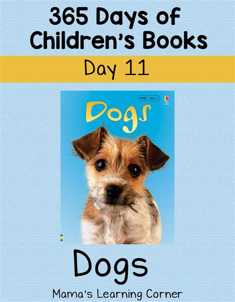 children s books about dogs dogs day 11 of 365 days of children s books mamas learning corner