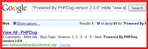 phpdug view all make search operators effective using footprints seo