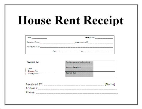 professional receipt template printable house rent receipt template doc vlashed