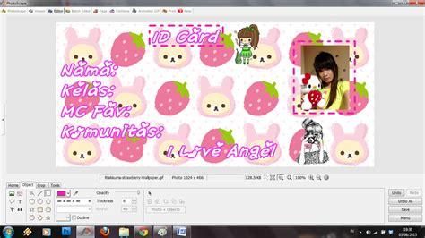 cara membuat id card jkt48 di photoscape angel chibi forever cara bikin id card di photoscape