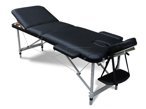 portable massage couch black portable massage table bed beauty therapy couch 3
