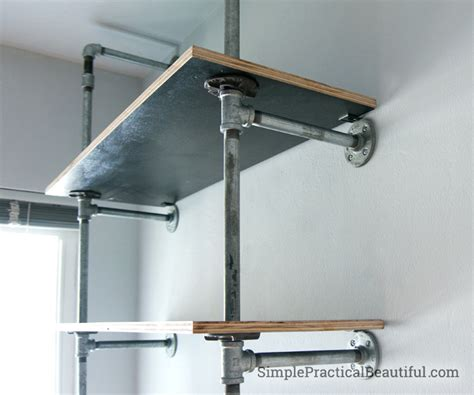 how to build industrial pipe shelves simple practical