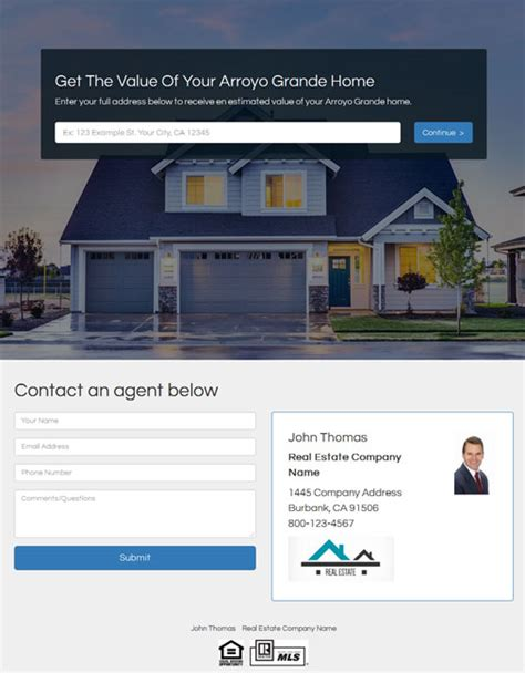generate home seller leads with home value lead pages