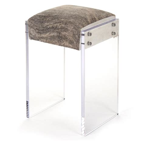 modern regency cowhide acrylic vanity counter