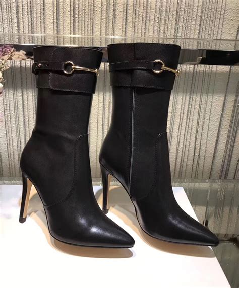Boots Gucci Black Uk 36 40 replica gucci womens pointed high heeled boots black 1663 buy items best quality