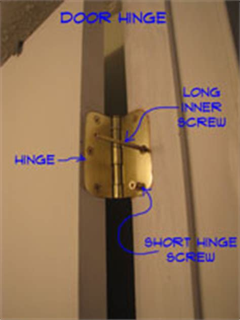 adjusting door hinges hardware doors repair topics