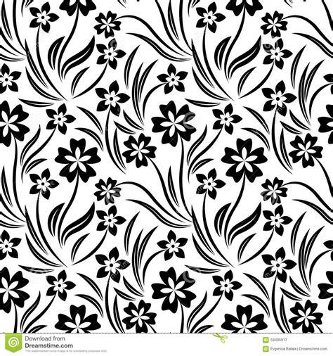 flower pattern vector black and white black and white vector flower pattern stock vector image