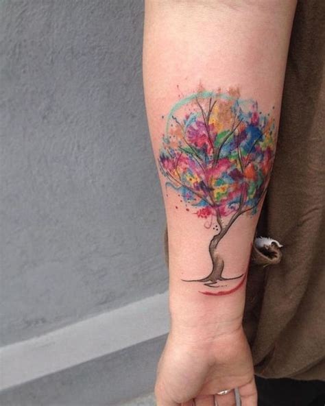watercolor tree tattoo ideas 34 watercolor tree designs amazing ideas