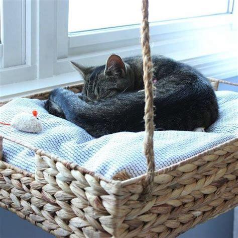 cat window bed diy fabriquer le panier ou la niche de votre animal
