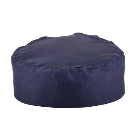 Kode A204 whites chefs apparel skull cap navy blue hat kitchen chef