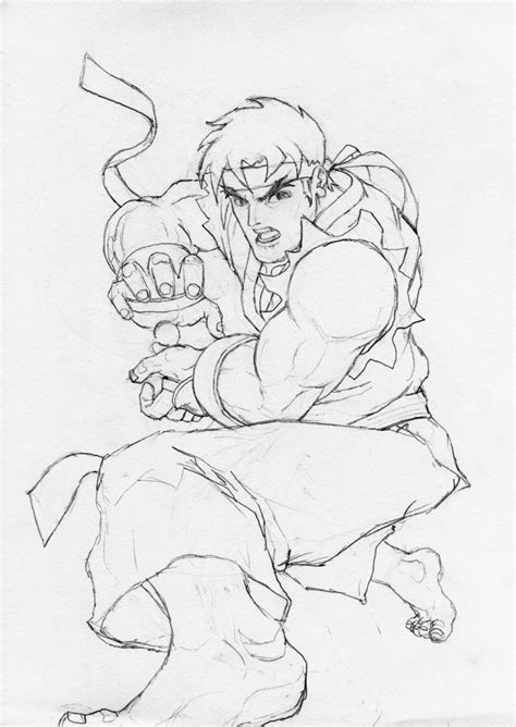 ryu coloring pages pictures to pin on pinterest pinsdaddy