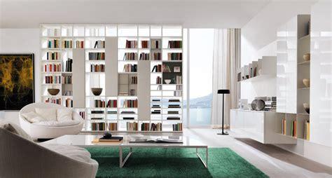 libreria divisoria bifacciale pareti attrezzate librerie per separare ambienti