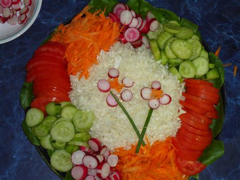 amazing decoration ideas of vegetable salad with different