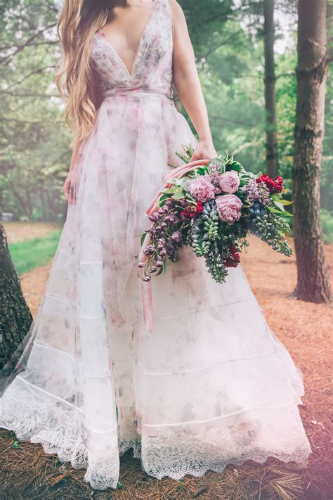 Flower Dress Wedding by Watercolor Floral Wedding Inspiration B Loved