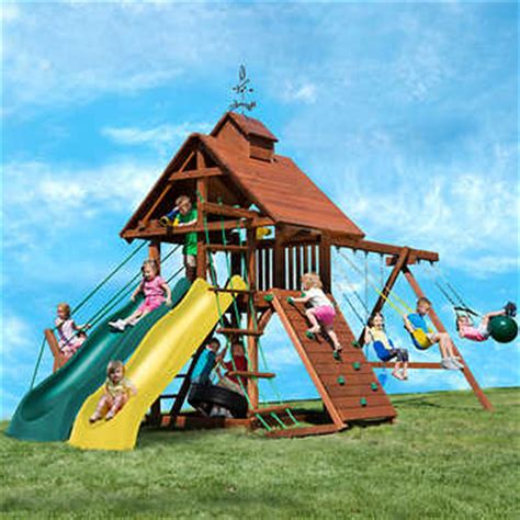 swing set for 1 year old kids creations windjammer redwood playset do it
