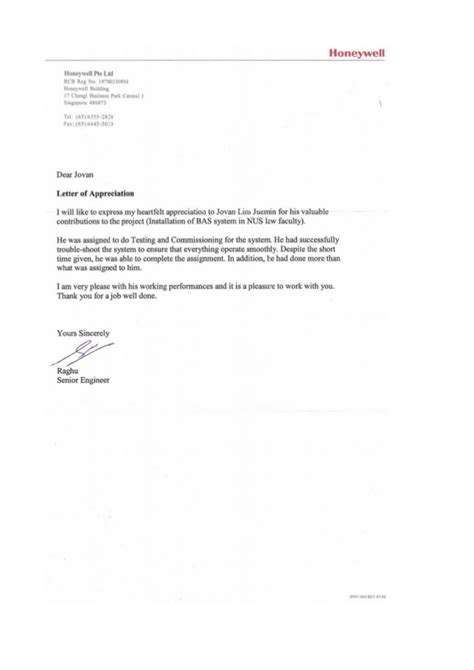 appreciation letter to employee for service letter of appreciation for outstanding service