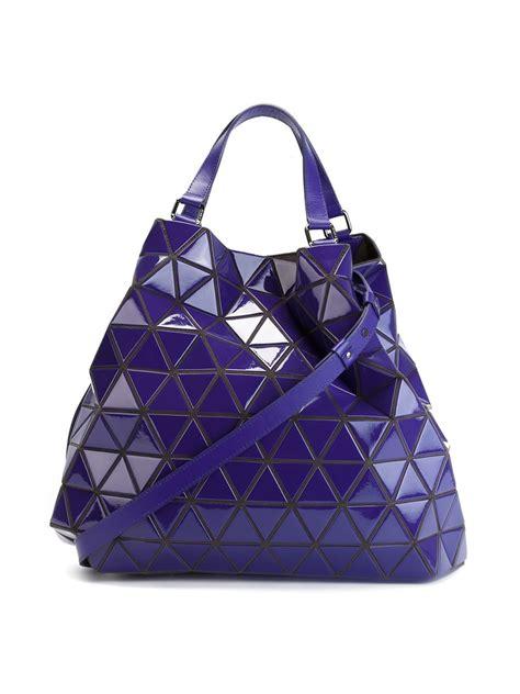 Bao Bao Bag lyst bao bao issey miyake prism shopping bag in blue