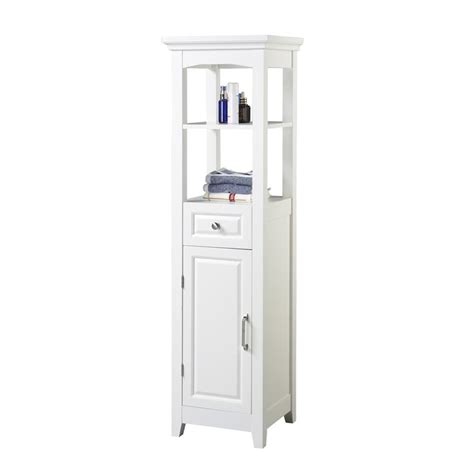 bathroom storage tower white chamber collection white 4 shelf bathroom linen tower