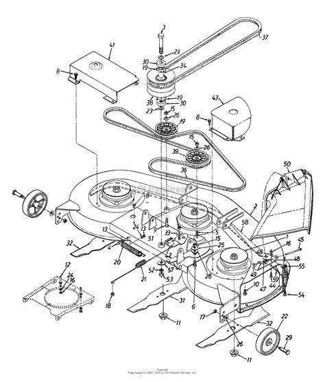 cub cadet belt replacement diagram mtd 13ag679h009 1997 parts diagram for deck assembly