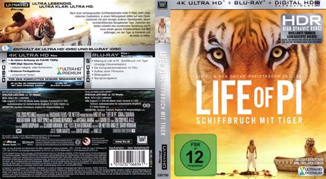 Sawadikap Ekonomis Lop Dvd Original of pi schiffbruch mit tiger 4k cover 2015 r2 german