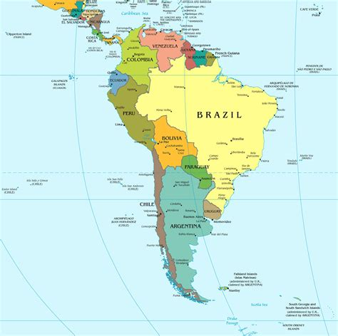 map of south maps of south america and south american countries