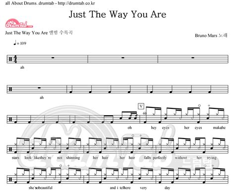 download mp3 bruno mars just the way you are original 드럼악보 드럼탭