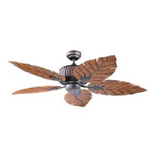lighting ceiling fans kendal lighting ac13152 orb 52 in fern leaf ceiling fan