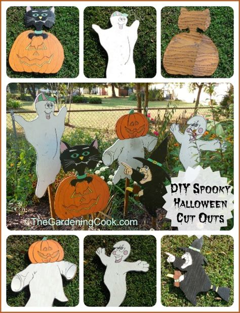Cut Out Yard Decorations - spooky wood cut out decorations the gardening cook