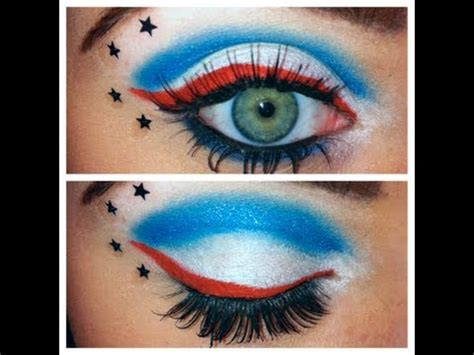 tutorial makeup by vizzily captain america makeup the world of make up