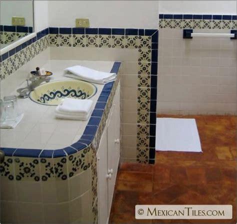 Mexican Tile Bathroom Ideas by Mexicantiles Bath With Blue Marguerite Via Http