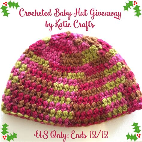Hat Giveaway - crocheted baby hat giveaway katie crafts