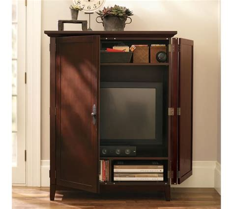 media armoires linden media armoire pottery barn