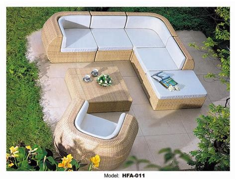 extra large outdoor furniture  shaped rattan sofa