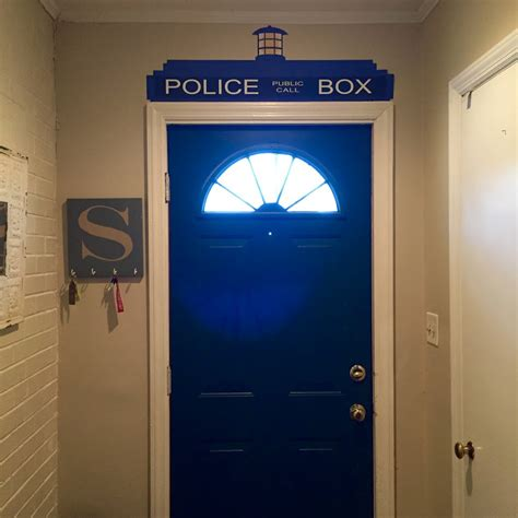 Tardis Door Cling by Doctor Who Inspired Tardis Door Topper Wall Cling Ships